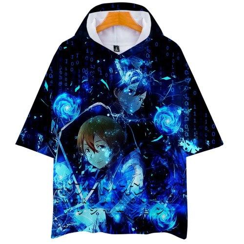 Anime Sword Art Online 3D Printed Hooded T Shirt Men Women Harajuku 3d Hoodie T-shirt Kpop Streetwear boys Tshirt Tops Clothes