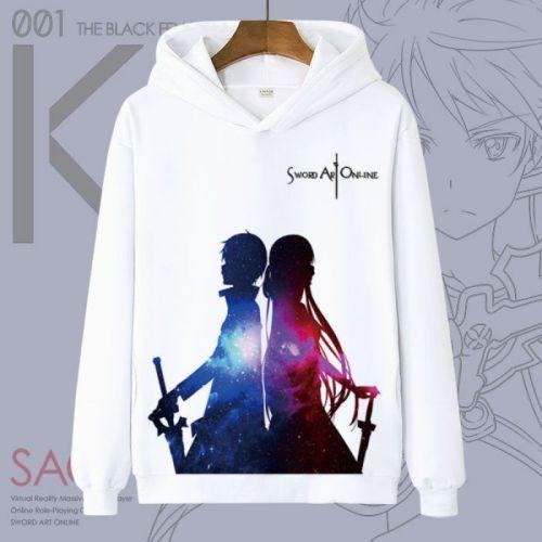Sword Art Online Cosplay T Shirt Cartoon Kirigaya Kazuto Yuuki Asuna Hoodies Winter Autumn Fleece Sweatshirts Casual Pullover