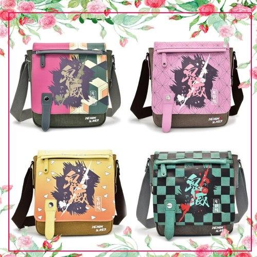 Dragonball Demon Slayer: Kimetsu No Yaiba Kamado Tanjirou Kamado Nezuko Agatsuma Zenitsu Messenger Bag Canvas Shoulder Bag