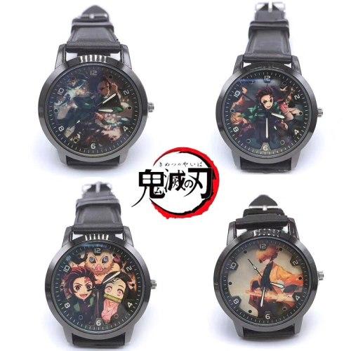 NEW Anime Demon Slayer Kimetsu no Yaiba Kamado Nezuko pattern Pocket Watch Model toys time Wrist watch Gift