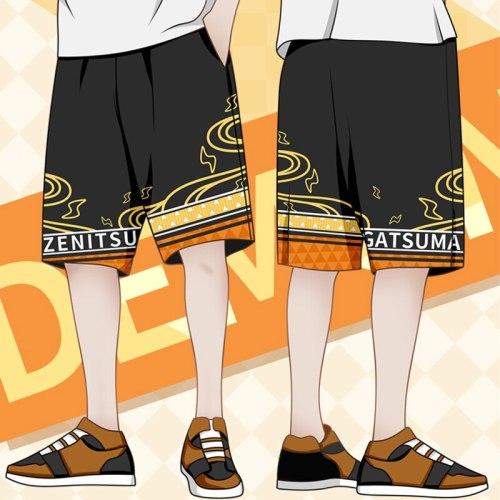 Anime Demon Slayer Kimetsu No Yaiba Cosplay Tanjirou Zenitsu Cosplay Loose Shorts Kochou Shinobu Cosplay Costumes For Men CS250