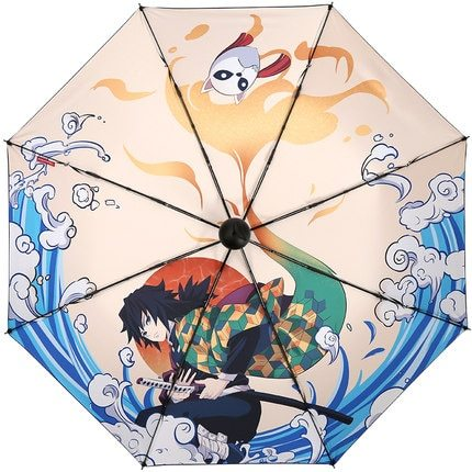 4 type Demon Slayer: Kimetsu no Yaiba Animation surrounding new umbrella folding personality lovely sunshade toys gift