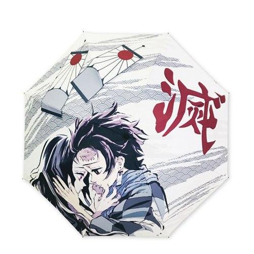 Japan Anime Kimetsu No Yaiba Demon Slayer Kamado Nezuko Kamado Tanjirou Sunscreen Umbrella