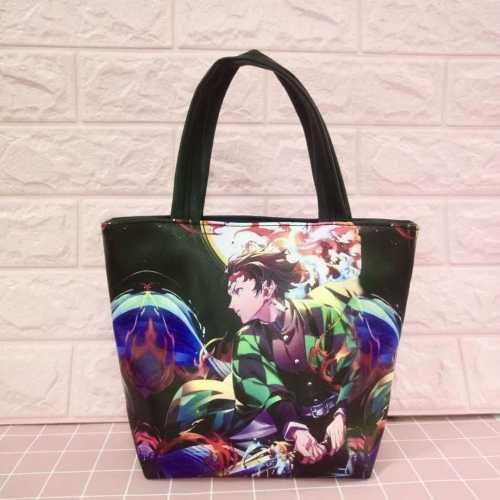 Cartoon Animation Japan Anime Comic Demon Slayer: Kimetsu No Yaiba Animation Canvas Shoulder Bag Handbag Shopping Bags