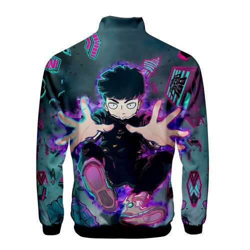 Anime One Punch The Series  Mob Psycho 100 Bomber Jackets Spring Autumn Men Brand Cartoon Zipper Jackets Men Casual Dropshipping