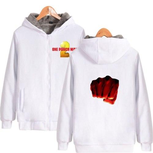 2D One Punch Man Season 2 zipper long sleeve casual comfortable Parkas men women