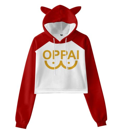 2020 ONE PUNCH-MAN Cosplay Hoodie Women Cat Ear Print Hooded Pullover Sweatshirt Spring Autumn Crew neck hoodie  girl clohtes