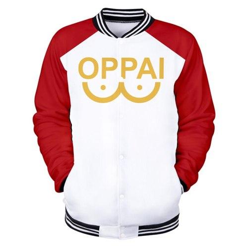 3d Baseball Jacket Coat 3D Men's Clothing Coats Tops Men Women Long Sleeve Hit Hop Cosplay Japanese Anime One Punch Man Casual