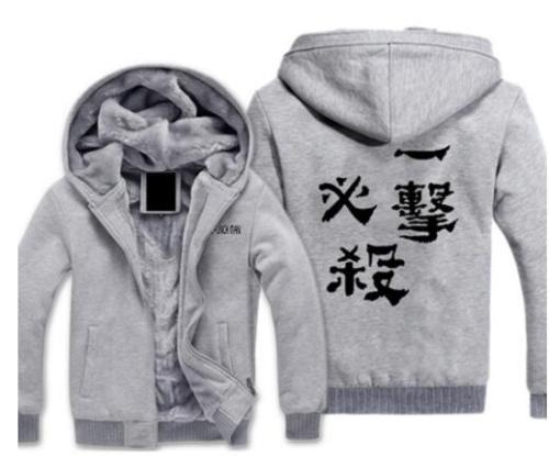 Anime One Punch Man Saitama Cosplay thick hoodie fleece costume jacket coat hoodie long sleeve