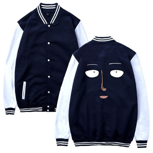 anime One Punch Man funny fashion harajuku men women Baseball Jacket casual Long Sleeve Hoodies Jackets Sweatshirt coats top 4XL