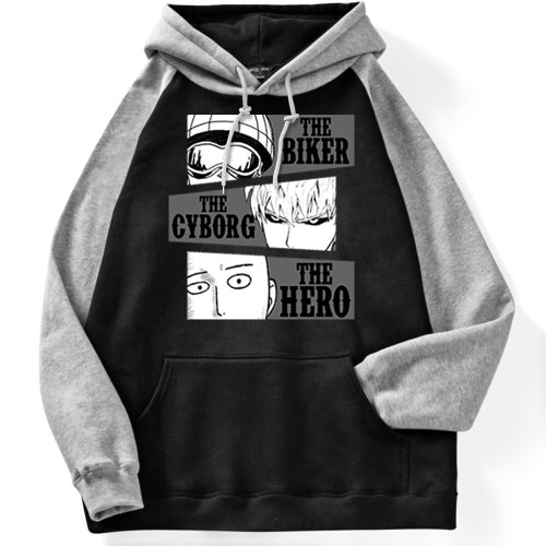 Japanese Anime One Punch Manpullovers Male City Hero Saitama Printing Hoodie Male Trend Street Pullover For Men Fleece