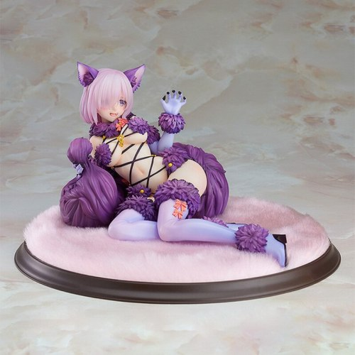 12cm Mash Kyrielight Cat Girl Fate Grand Order Shielder Beast Action Figure Anime Figure Model Toys Sexy Girl Figure Collection
