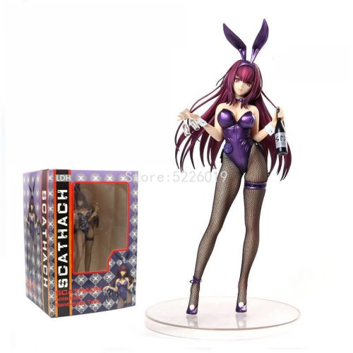 28cm Fate/Grand Order Sexy Anime Figure Scathach Bunny that Pierces with Death Ver. Action Figure Lancer/Assassin Sexy Figure