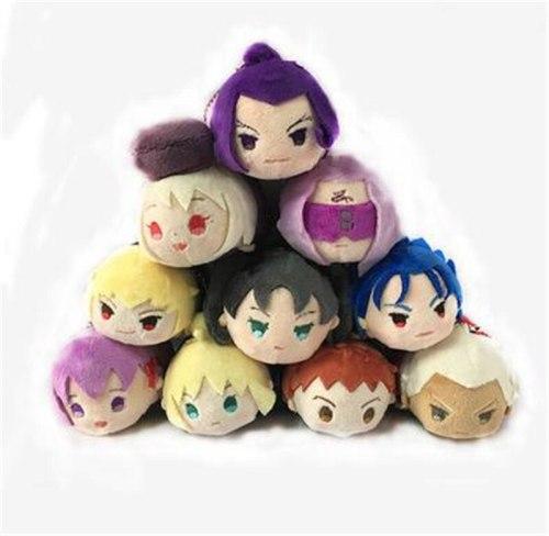 FGO Fate/Grand Order Cuchulainn Saber Attila Elizabeth Tamamo no Mae Keychain Strap Plush Stuffed Doll Toy Bag  Lovely  Pendant