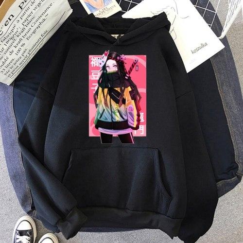 Winter Giyu Tomioka Baka Kimetsu no Yaiba Demon Slayer Hoodie oversized Sweatshirts Long Sleeve Velvet Warm Pullovers streetwear