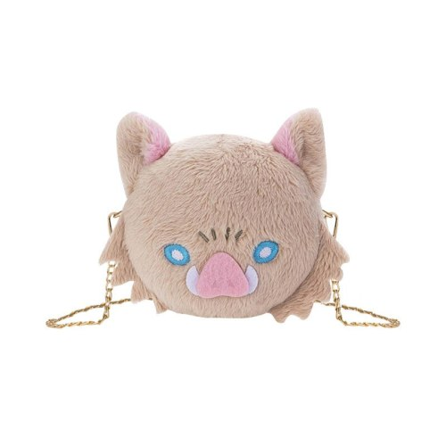 Kimetsu no Yaiba Anime Plush Shoulder Bag Chain Packet Hashibira Inosuke Lovely Schoolgirl Package Japanese Halloween Party