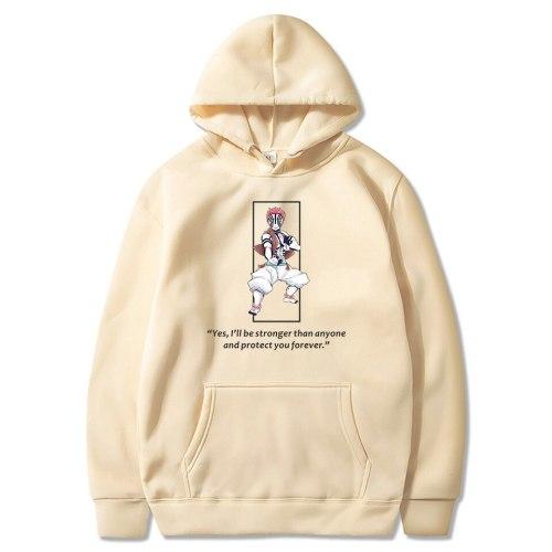 Akaza Upper Moon Three Demon Slayer Sweatshirt Hoodies Men Women Cartoon Kimetsu No Yaiba Harajuku Streetwear Pullover Tops