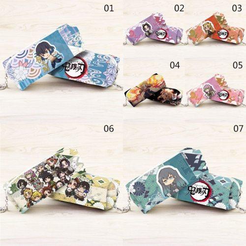 1Pcs Japan Anime Demon Slayer: Kimetsu no Yaiba Kamado Nezuko Cosplay Student Pen Bag Pencil Case Cosmetic Bag Storage bag