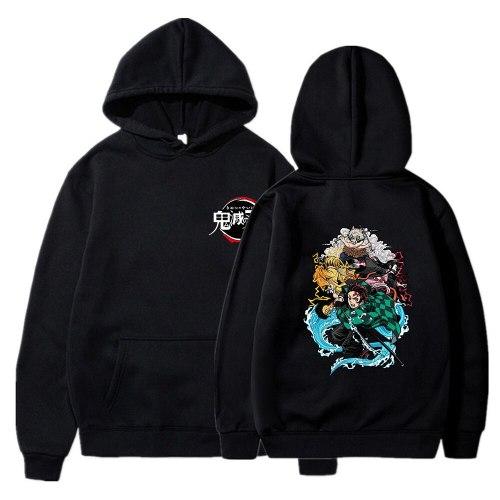 Anime Demon Slayer Hoodie Men Women Harajuku Kimetsu No Yaiba Spring Unisex Sweatshirts Streetwear Pullovers