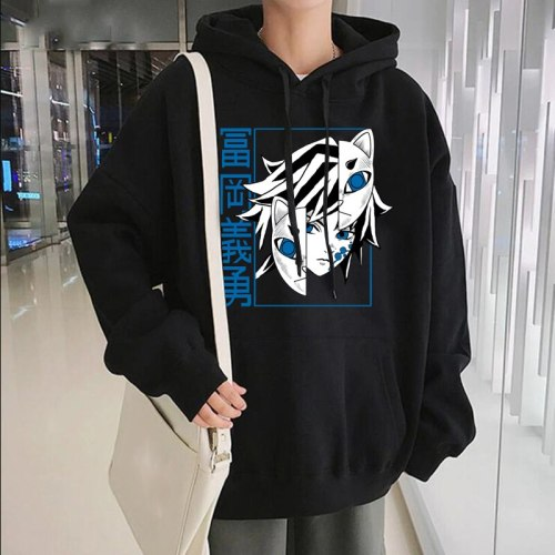 Demon Slayer Print Hoodies Kimetsu No Yaiba Tanjirou Anime Manga Fashion Casual Printed Mens Coat Hoody Sweatshirts Hoodies