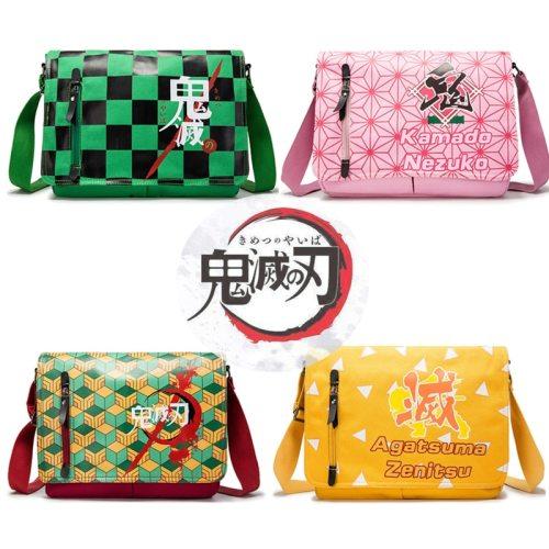 Anime Demon Slayer: Kimetsu no Yaiba Tomioka Giyuu School Bags  Shoulder Bag Cartoon Cute Messenger Bag Fashion Canvas Haversack