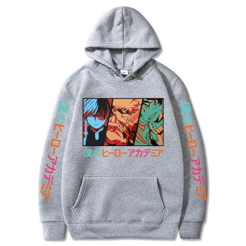 Harajuku Hoodie My Hero Academia Hoodie Shoto Todoroki Bakugou Deku Sweatshirts Boku No Hero Academia Sweatshirt Hoodies Tops