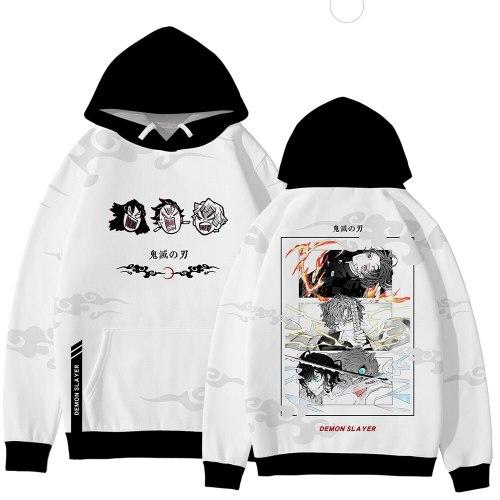 New Demon Slayer Hoodies Women Autumn Fashion Cartoon Hoodies Harajuku Popular 3D Sweatshirt Kimetsu No Yaiba Couples Pullover