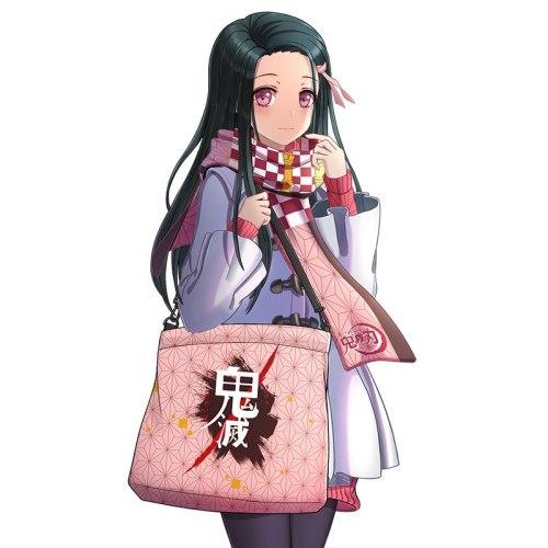 Anime Demon Slayer: Kimetsu no Yaiba Cosplay Shoulder Bag Messenger Cross Body Bag Canvas Handbag Shopping Tote