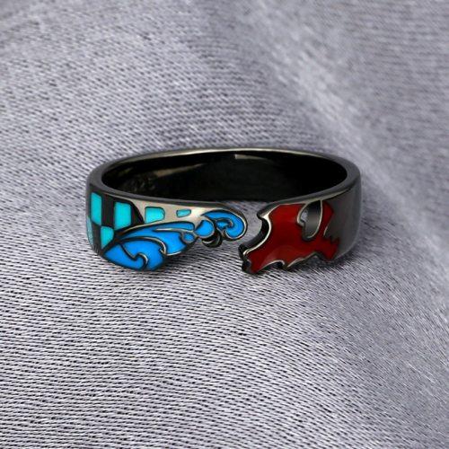 Anime Demon Slayer: Kimetsu no Yaiba Kamado Tanjirou 925 Sterling Silver Finger Ring Adjustable Jewelry Cosplay Xmas Gift
