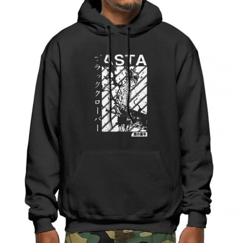 Men's sweatshirt Asta black clover vintage v1 Men Hoodie