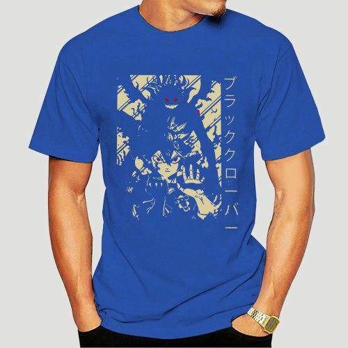 Black Clover Asta Japanese Anime T-Shirts Men Harajuku Cotton T Shirts Short Sleeve Tees Summer Tops 0526F