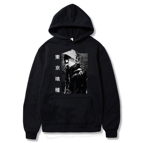 Tokyo Ghoul Men Hooded Sweatshirt Winter Fashion Hip Hop Hoodie Men Casual High Quality Funny Black Japanese Anime Clothes