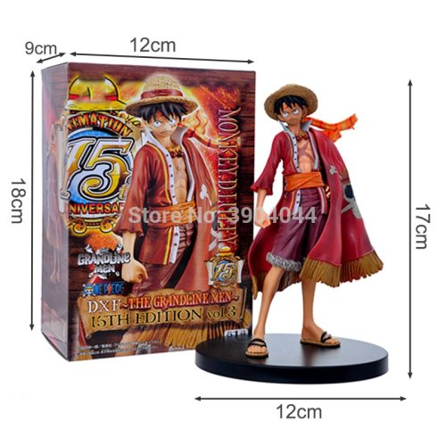 One Piece Luffy Theatrical Edition 15th Anniversary Action Figure Juguetes Anime Figures Model Toys for Kids Christmas Gift 17cm