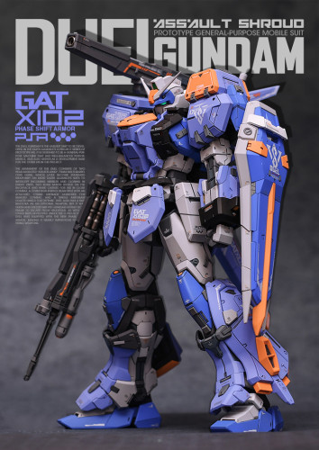 MG 1/100 GAT-X102 Duel Gundam Seed Garage Kit 3D printed resin does not include Bandai models