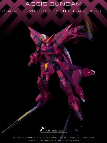 MG 1/100 Aegis Gundam Seed Athrun Zala  Garage Kit 3D printed resin does not include Bandai models