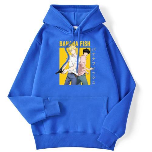 Banana Fish Cartoon Anime Printing Men Hoodie 2020 Fashion Hoody Vintage Oversize Autumn Clothes Fleece Pocket Sweatshirts Mens