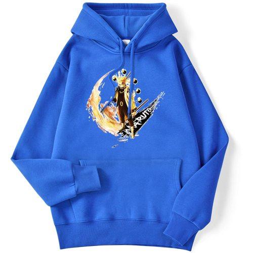 2020 New Autumn Anime Naruto Printing Mens Streetwear Loose Pullover Hoody Fashion Crewneck Hoodies Vintage Fleece Hoodie Man