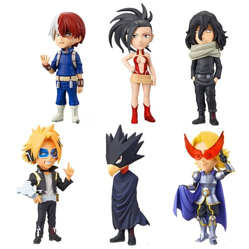 6pcs/set 10cm Anime My Hero Academia Figurine Todoroki Shouto Action Figure Kaminari Denki Statue PVC Collection Model Toys