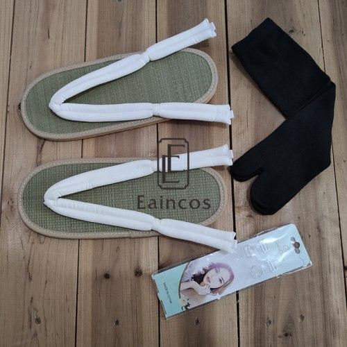 Anime Demon Slayer Kimetsu No Yaiba Cosplay Shoes Kamado Tanjirou Kamado Nezuko Agatsuma Zenitsu Flip Flops Sandals With Socks