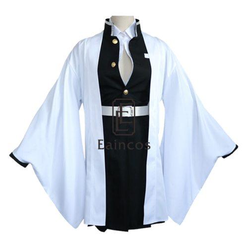 Anime Demon Slayer Kimetsu No Yaiba Kimono Cosplay Costume Kanroji Mitsuri Uniform Cloak Wig