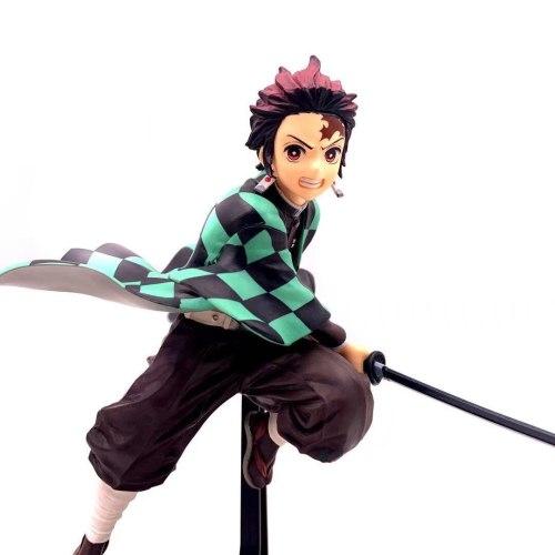 Kimetsu no Yaiba Anime Figure Kamado Tanjirou PVC Action Figure Toy Demon Slayer Statue Adult Collectible Model Doll Gift