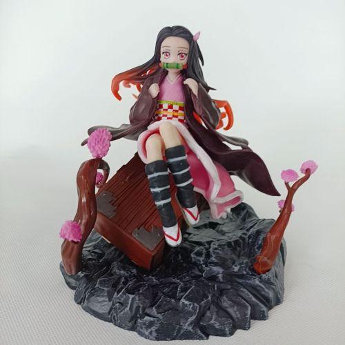 Anime Figure Demon Slayer Kamado Kamado Nezuko PVC Action Figure Toy Kimetsu no Yaiba Statue Adult Collectible Model Doll Gift