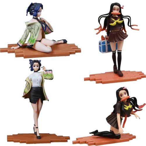 25cm Demon Slayer Kimetsu no Yaiba Nezuko Kamado School Uniforms PVC Action Figure Anime Figure Sexy Girl Model Toys Doll Gift