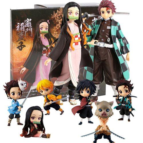 Demon Slayer Anime Figure Kimetsu No Yaiba Kamado Tanjirou Nezuko Action Figures Toy Agatsuma Zenitsu Figurine Inosuke Model Toy