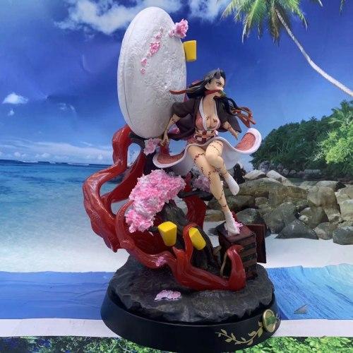 Anime Figure Demon Slayer Kamado Nezuko PVC Action Figure Toy Kimetsu no Yaiba GK Statue Adult Collectible Model Doll Gifts