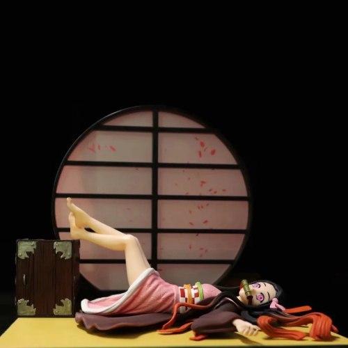 17cm Demon Slayer Kamado Nezuko Anime Figure Sexy Girl Kimetsu no Yaiba Kamado Nezuko Sleeping Ver. PVC Action Figure Toys