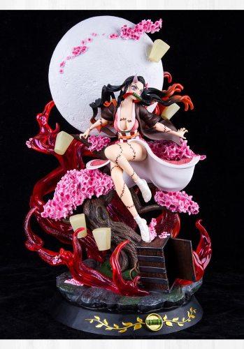 Devil's Blade Anime Figure Gk Kamado Nezuko Demon Slayer Violent Blood 1/6 Anime Statue Kimetsu No Yaiba Action Figure Model Toy