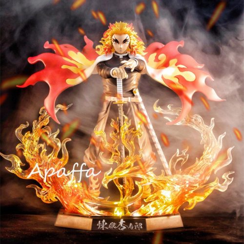 Newest 20cm Demon Slayer Anime Figure Rengoku Kyoujurou PVC Action Figures Toy GK Anime Kimetsu No Yaiba Figurine Toy