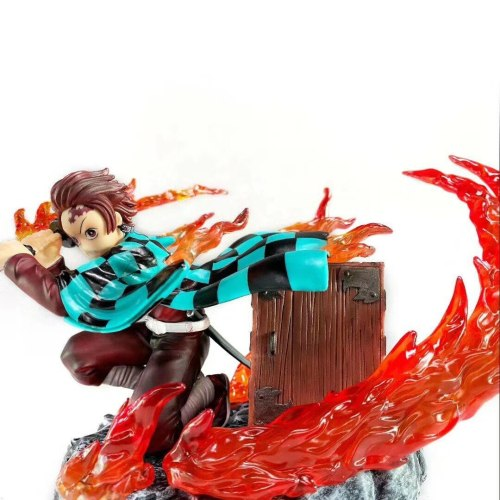 New Demon Slayer Tanjirou Anime Figure Kimetsu no Yaiba Kamado PVC Action Figure Toys Collcetion Model Doll Gift