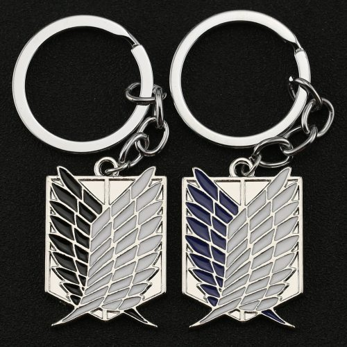 Attack On Titan Keychain Wings of Liberty Freedom Scouting Legion Eren Keyring Key Holder Chain Ring New Anime Jewelry Wholesale